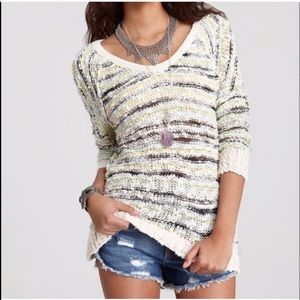 Free people songbird marled knit sweater
